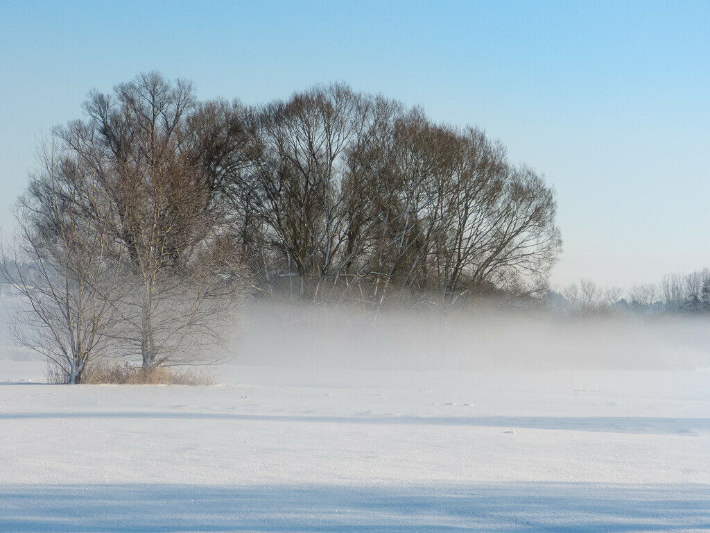 Winterstimmung auf dem Feld