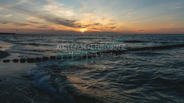 Ostsee, Sonnenuntergang an der Ostsee, Zingst   Sonnenuntergang an der Ostsee