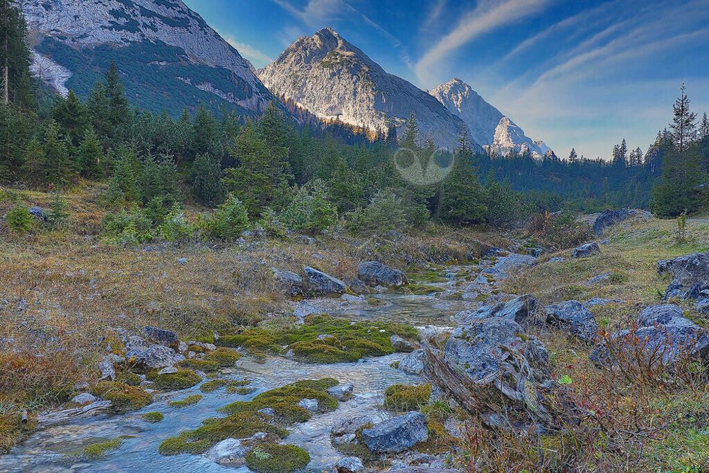 Mieminger Kette | Die Mieminger Kette in den Tiroler Alpen liegt ziwschen Ehrwald und Leutasch.