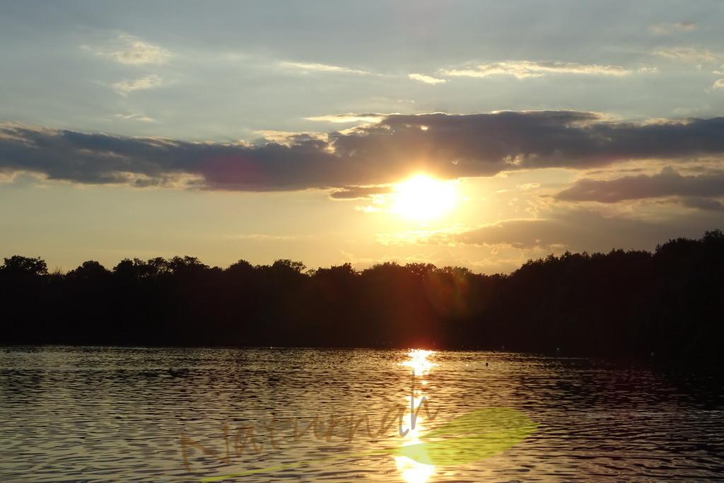Zuversicht | Sonnenuntergang mit Wasserspiegelung