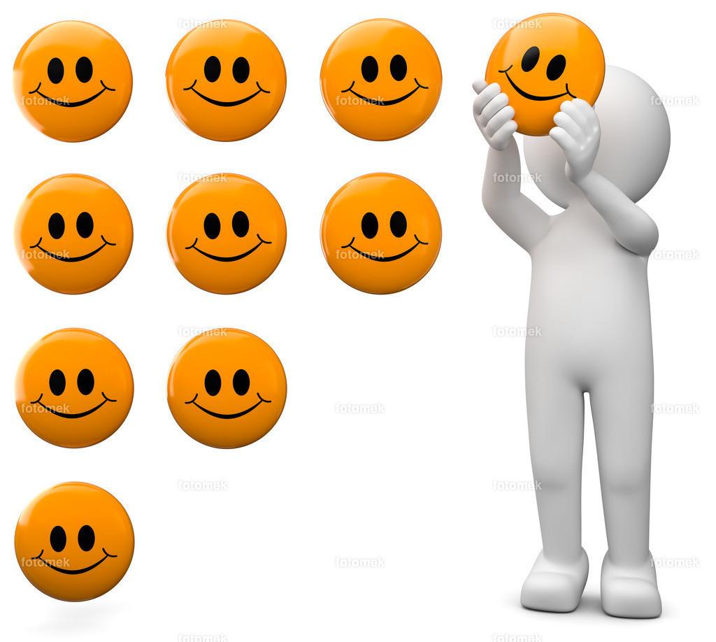 weisses 3d Männchen Berwertung mit Smileys | 3d Männchen bewertet mit Smileys
