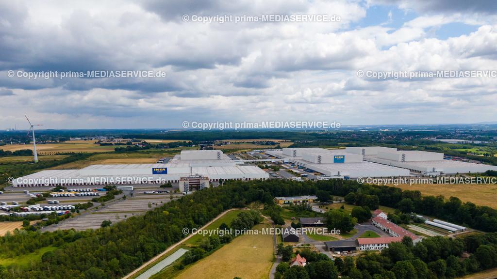 20190707-Luftbilder HRB Ellinghausen | 07.07.2019 in Dortmund (Nordrhein-Westfalen, Deutschland) Luftbilder HRB Ellinghausen, IKEA Ellinghausen  Foto: Michael Printz / PHOTOZEPPELIN.COM