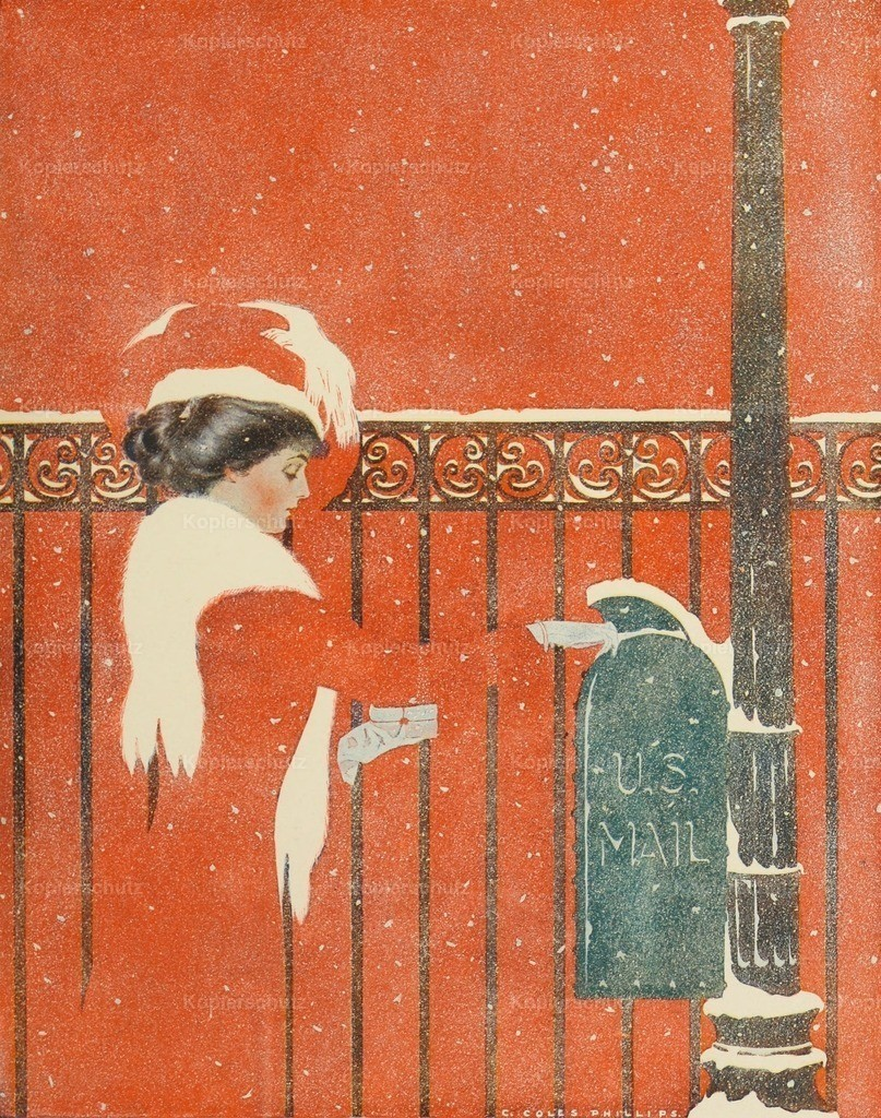 Phillips_ Clarence Coles (1880-1927) - A Gallery of Girls 1911 - Between you_ me and the post