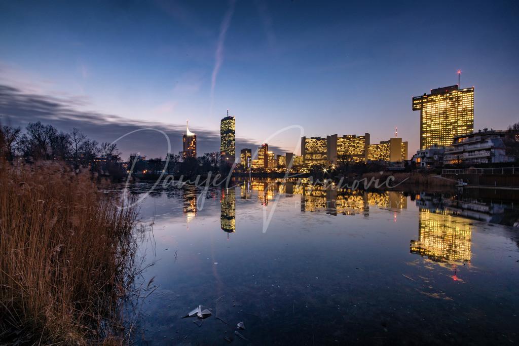 Donaucity | Die Donaucity in der Abendämmerung