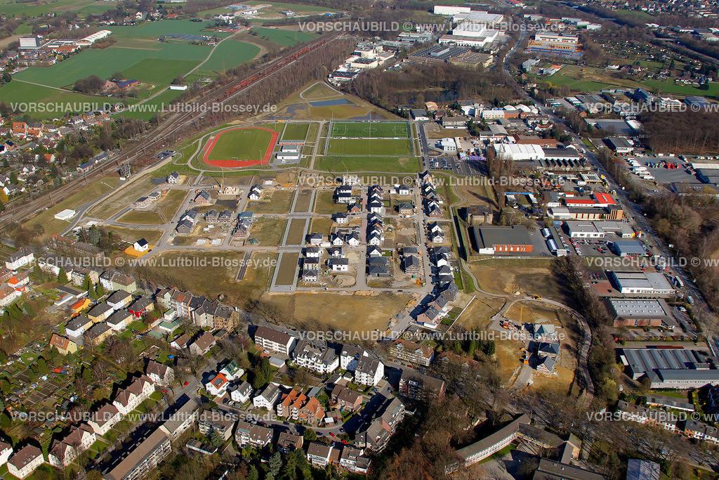 RE11033206 | Maybacher Heide, Baugebiet, Wohnsiedlung, Sportplaetze,  Recklinghausen, Ruhrgebiet, Nordrhein-Westfalen, Germany, Europa  Foto: Hans Blossey