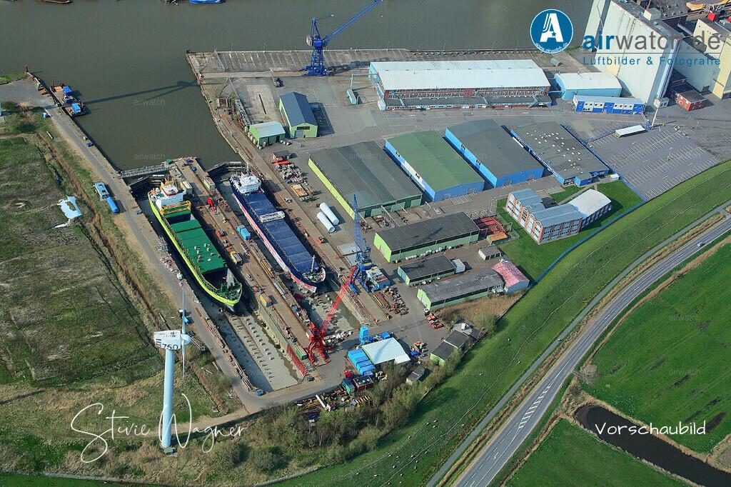 Luftbild Husum Nordsee, Aussenhafen, Trockendock, Husum-Dock+Reparatur | Luftbild Husum Nordsee, Aussenhafen, Trockendock, Husum-Dock+Reparatur • max. 4272 x 2848 pix.
