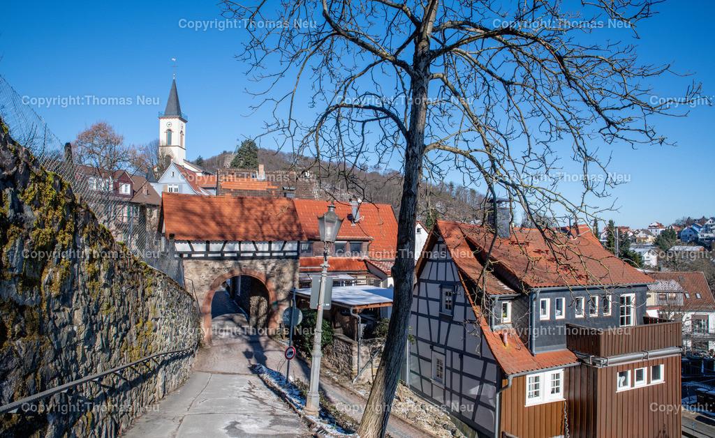 DSC_7201 | bli,Lindenfels, Blick auf das Fürther Tor, Winter, Blauer Himmel, eisige Temperaturen, perfektes Wetter für ein Winterspaziergang, ,, Bild: Thomas Neu