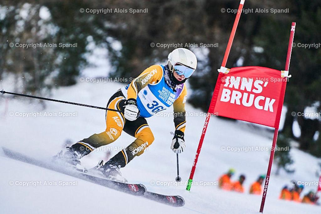 ALS5447_WWMG_GS-II_C | (C) FotoLois.com, Alois Spandl, WinterWorldMastersGames 2020 Innsbruck, Giant Slalom-II Gruppe C Damen, Patscherkofel Olympiaabfahrt, Mi 15. Jänner 2020.