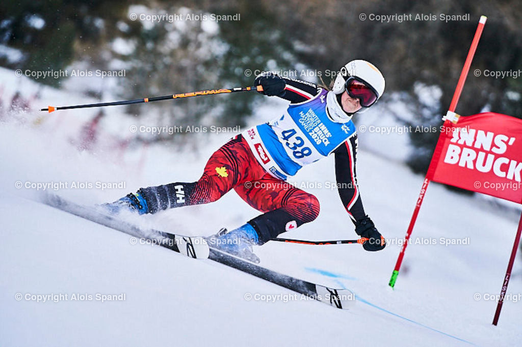 ALS5869_WWMG_GS-II_C | (C) FotoLois.com, Alois Spandl, WinterWorldMastersGames 2020 Innsbruck, Giant Slalom-II Gruppe C Damen, Patscherkofel Olympiaabfahrt, Mi 15. Jänner 2020.