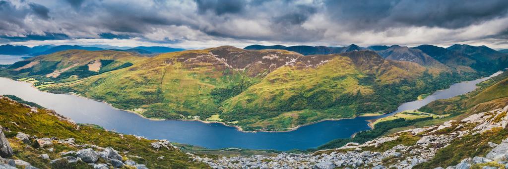 Highlands, Schottland   Glencoe (Gleann Comhann), Glen Coe, Loch Leven, Highlands, Schottland