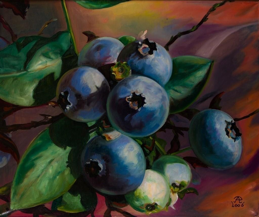 Farbkombination mit Blaubeeren | Originalformat: 50x60cm  -  Produktionsjahr: 2006