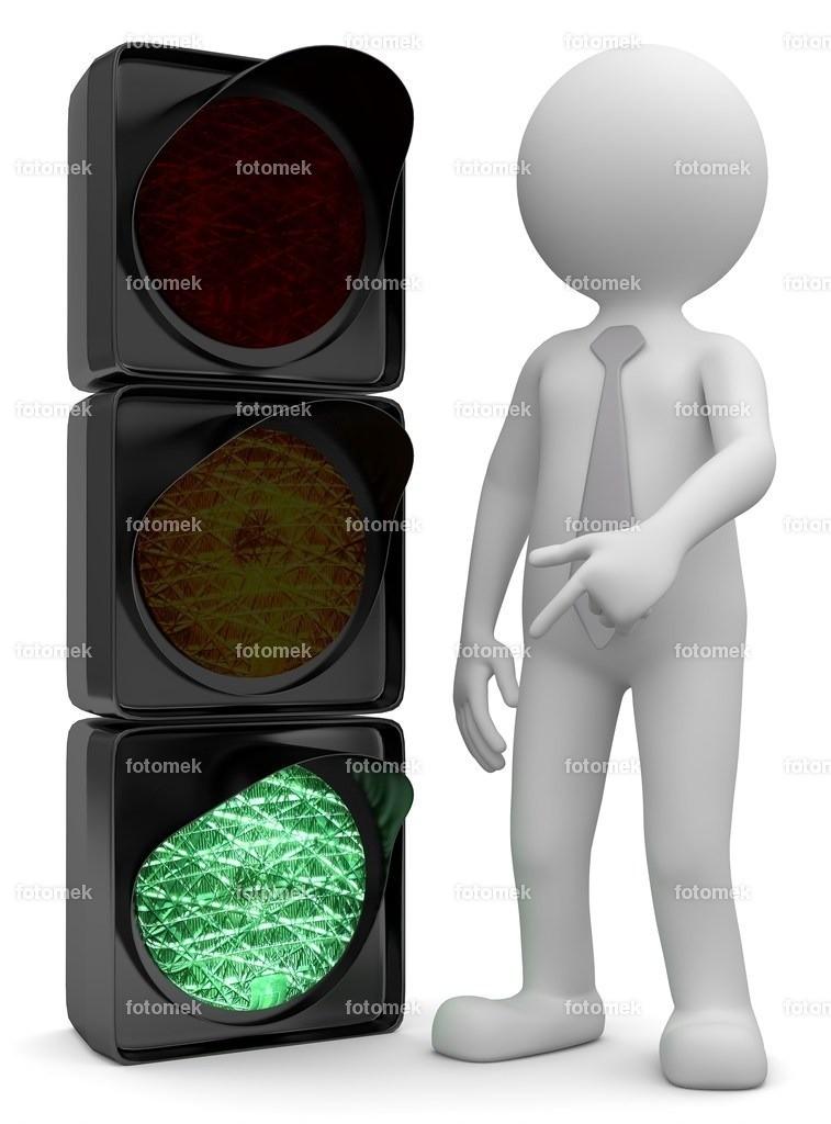 Männchen_ampel_green | weisse 3D Männchen von Fotomek