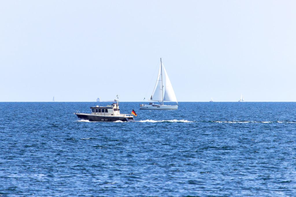 Strand in Schönhagen | Boote vor Schönhagen