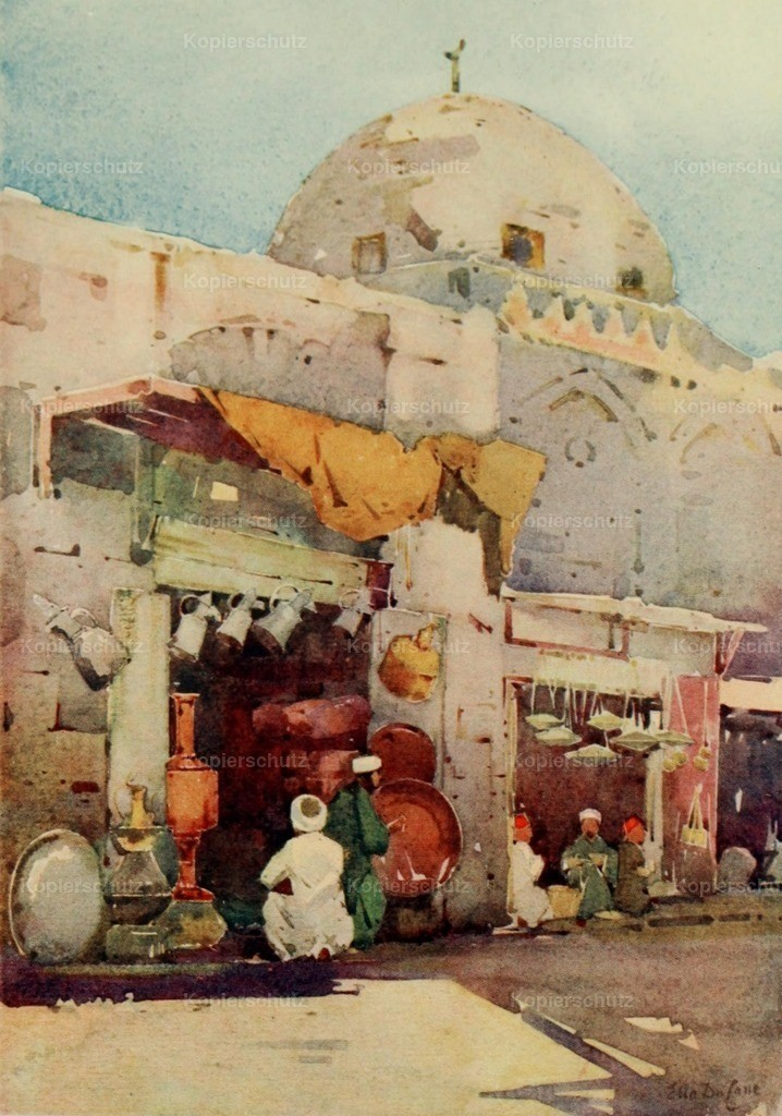 Cane_ Ella du (1874-1943) - Banks of the Nile 1913 - Coppersmith_s bazaar in Cairo