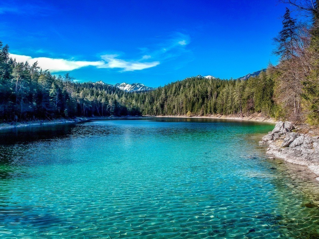 Eibseepanorama | Blick auf den atemberaubend schönen See in Garmisch-Patenkirchen