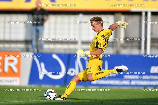AUT, 2.Liga, SK Vorwaerts Steyr vs FC Wacker Innsbruck | 13.08.2021, EK Arena Steyr, AUT, 2.Liga, SK Vorwaerts Steyr vs FC Wacker Innsbruck, im Bild Thomas Turner (Steyr)