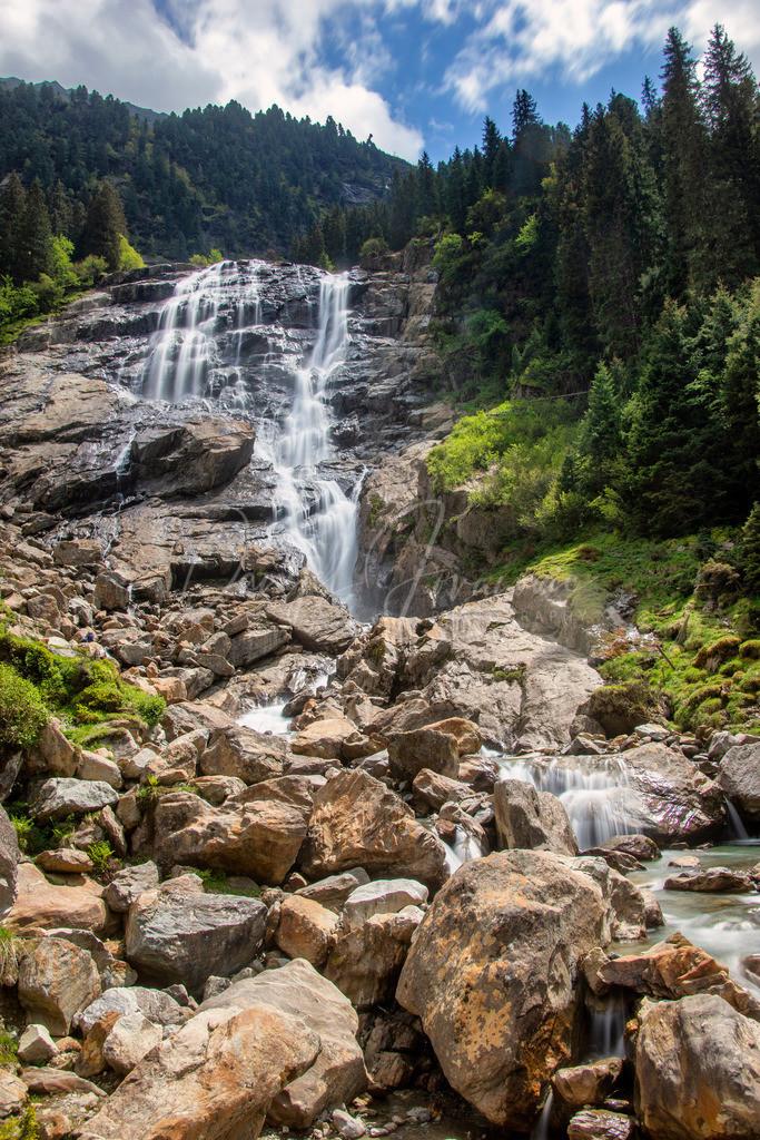Grawa Wasserfall | Stubaital Stubai Ruetz Fluß Bach Natur Sommer Tirol