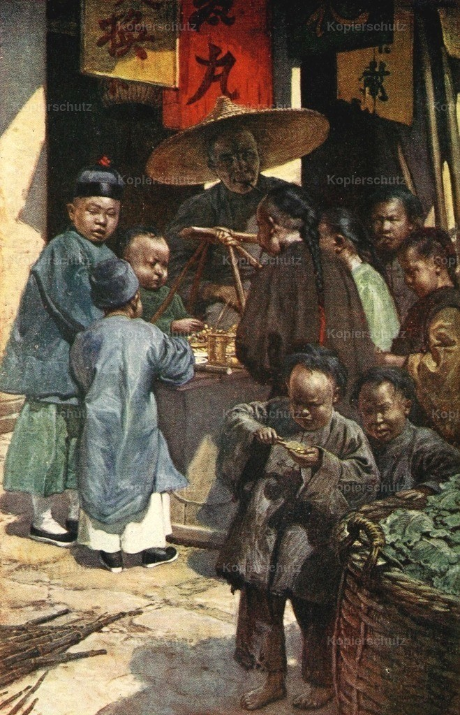 Hardy_ Norman H. (1864-1914) - China 1910 - Boys round a sweet stall