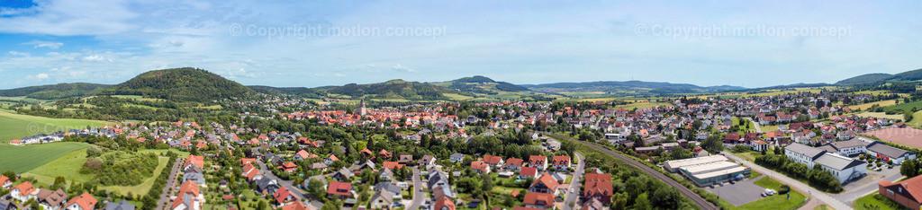 Panorama Zierenberg vom Schlag