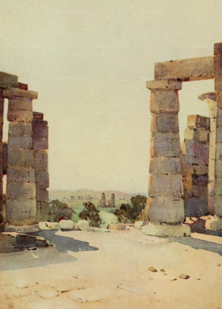 Cane_ Ella du (1874-1943) - Banks of the Nile 1913 - Colossi from the Ramesseum