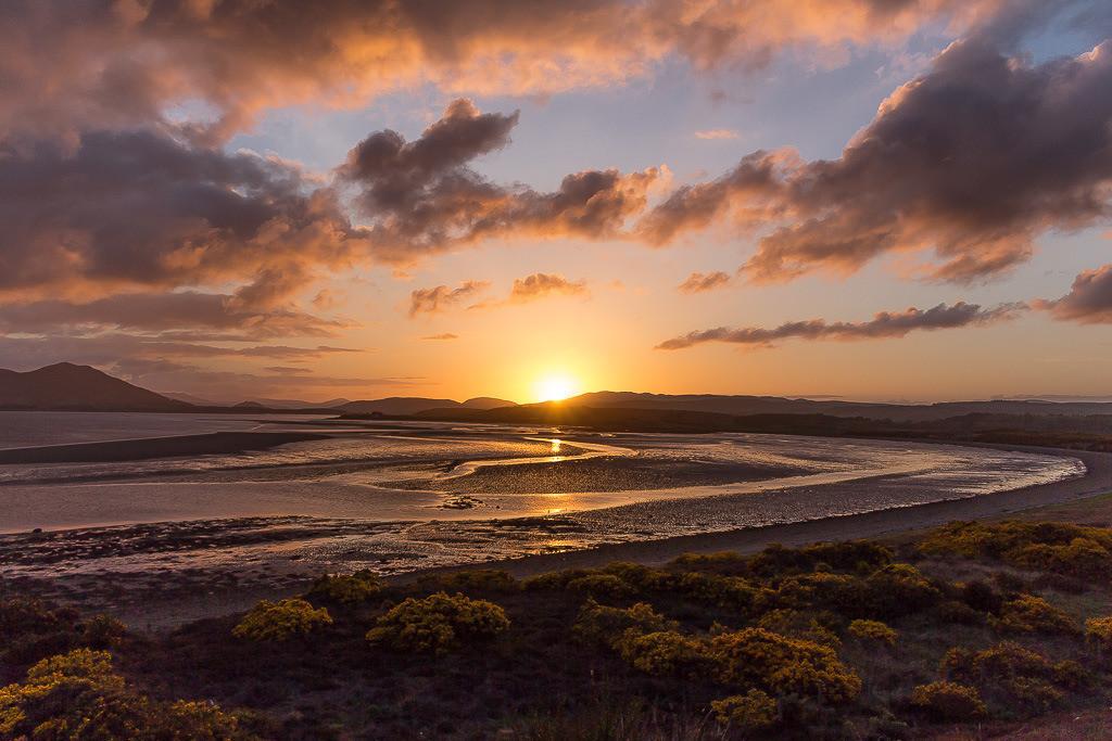 Sonnenuntergang an der schottischen Küste