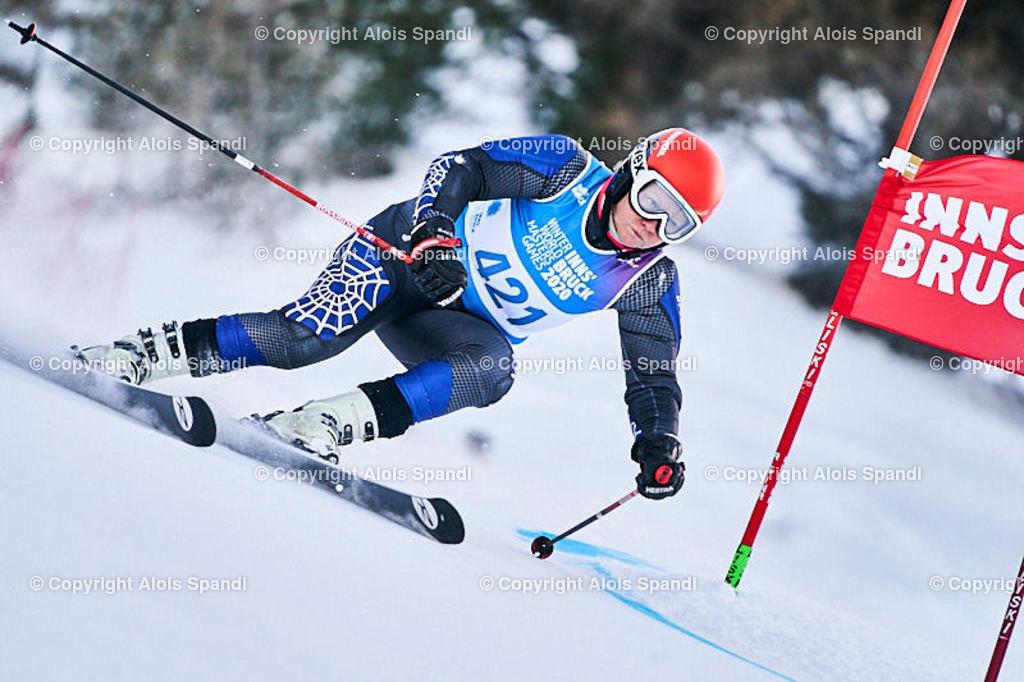 ALS5790_WWMG_GS-II_C | (C) FotoLois.com, Alois Spandl, WinterWorldMastersGames 2020 Innsbruck, Giant Slalom-II Gruppe C Damen, Patscherkofel Olympiaabfahrt, Mi 15. Jänner 2020.