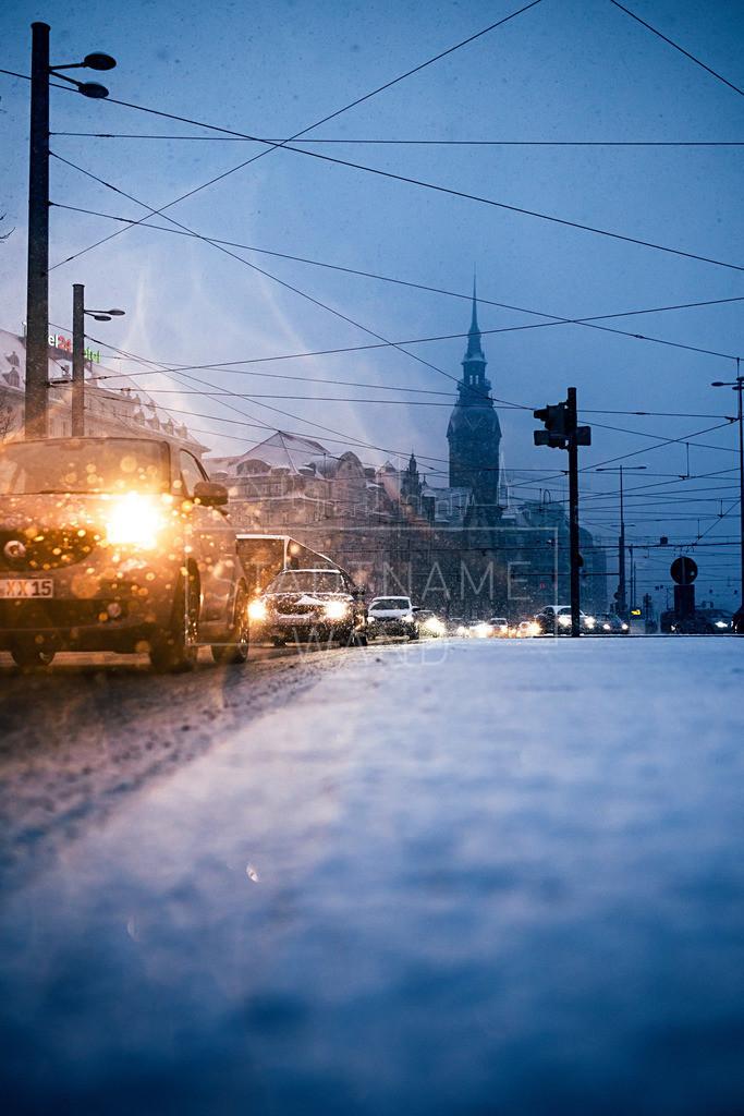 Leipzig Wintereinbruch