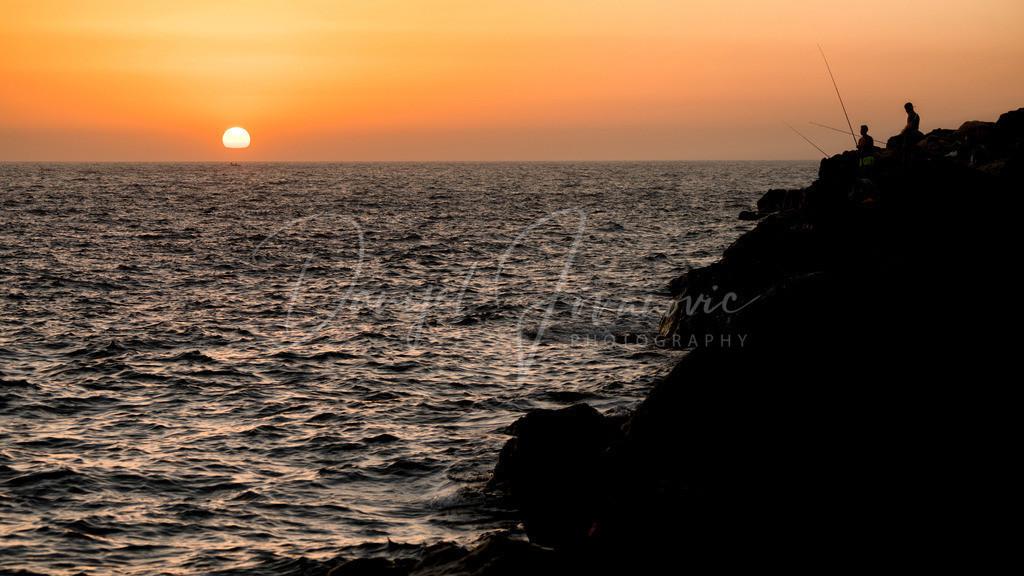 Sonnenuntergang | Sonnenuntergang in der Nähe von Arguineguin