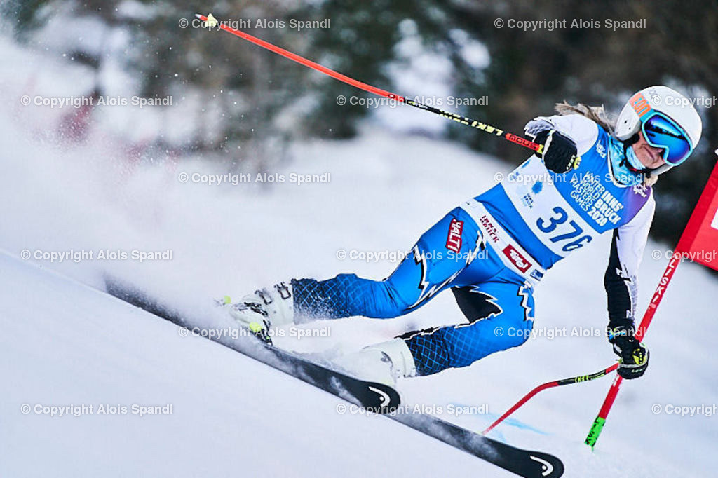 ALS5560_WWMG_GS-II_C | (C) FotoLois.com, Alois Spandl, WinterWorldMastersGames 2020 Innsbruck, Giant Slalom-II Gruppe C Damen, Patscherkofel Olympiaabfahrt, Mi 15. Jänner 2020.