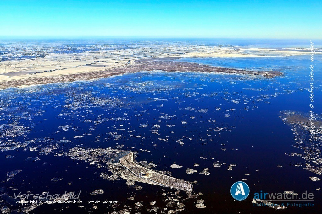 Winter Luftbilder, Nordsee, Nordfriesland, Hallig Habel | Winter Luftbilder, Nordsee, Nordfriesland, Hallig Habel