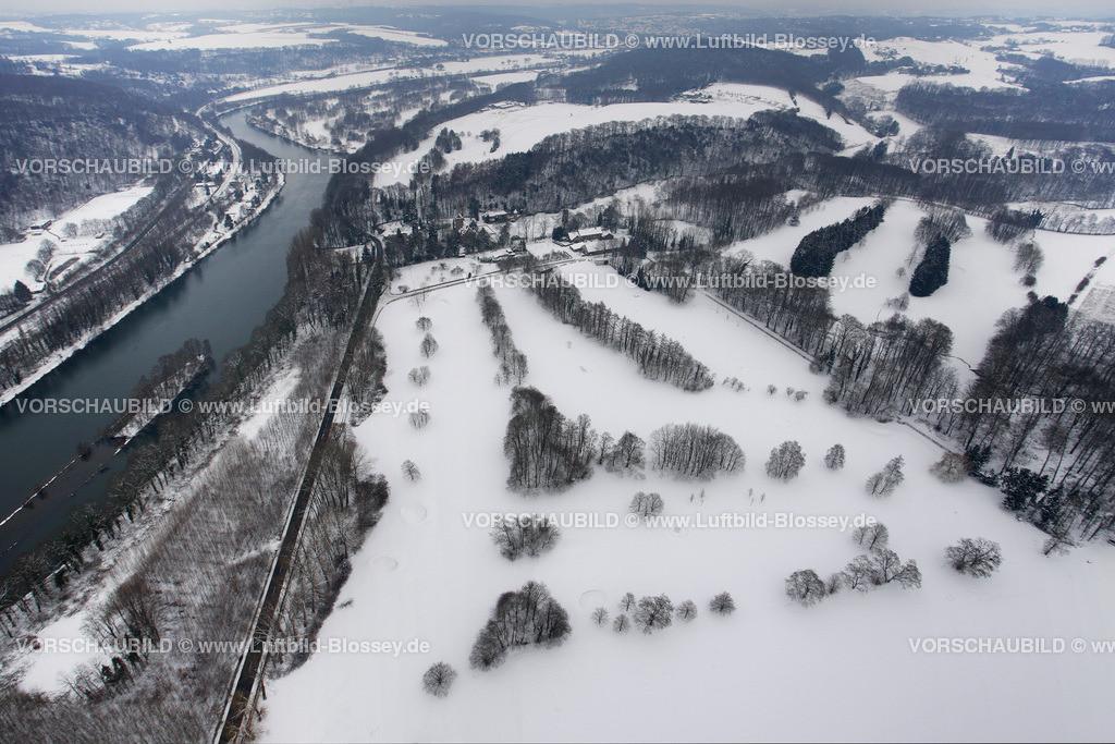KT10011105 | Schnee,  Kettwig, Essen, Ruhrgebiet, Nordrhein-Westfalen, Deutschland, Europa, Foto: Luftbild Hans Blossey, Copyright: hans@blossey.eu, 06.01.2010, E 006° 57' 34.33