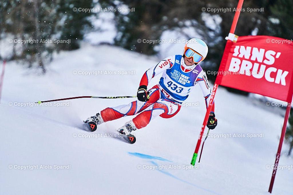 ALS5834_WWMG_GS-II_C | (C) FotoLois.com, Alois Spandl, WinterWorldMastersGames 2020 Innsbruck, Giant Slalom-II Gruppe C Damen, Patscherkofel Olympiaabfahrt, Mi 15. Jänner 2020.