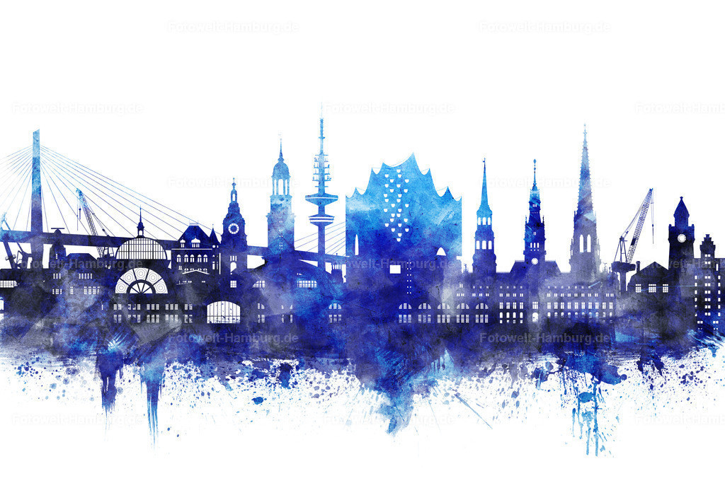 11994532 - Hamburg Blue Skyline