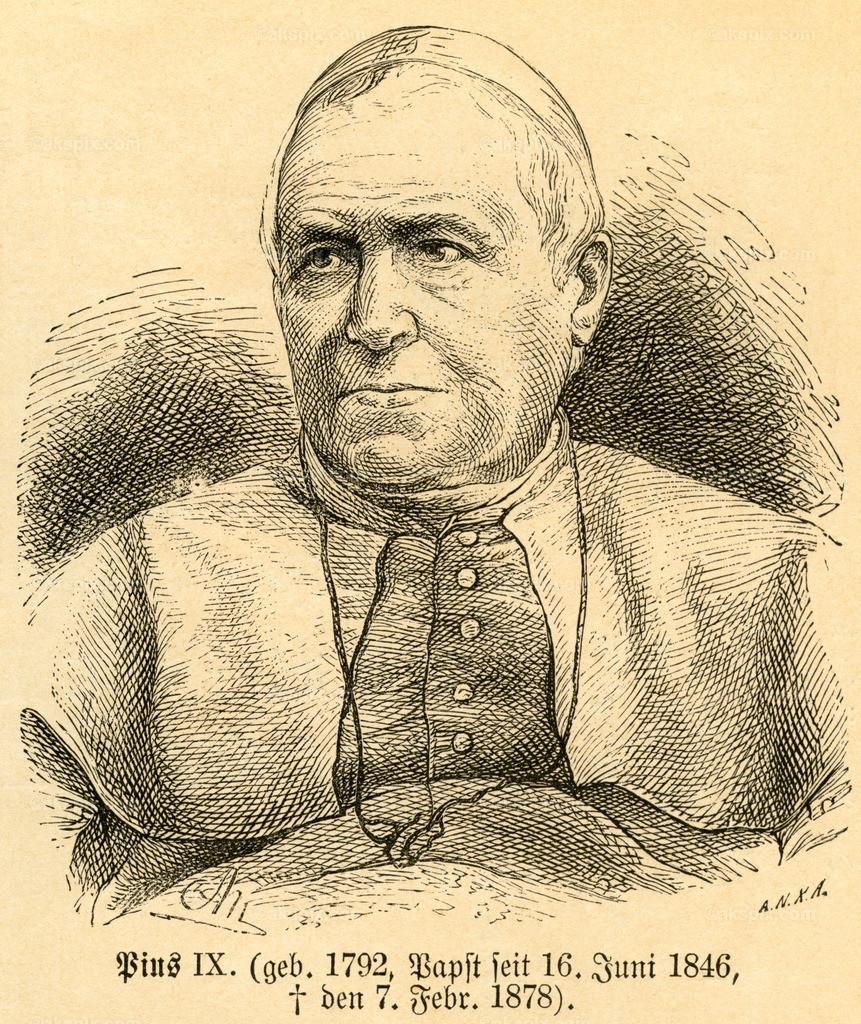 Papst Pius IX. / Pope Pius IX | Europa, Italien, Rom, Papst Pius IX. , Motiv aus :