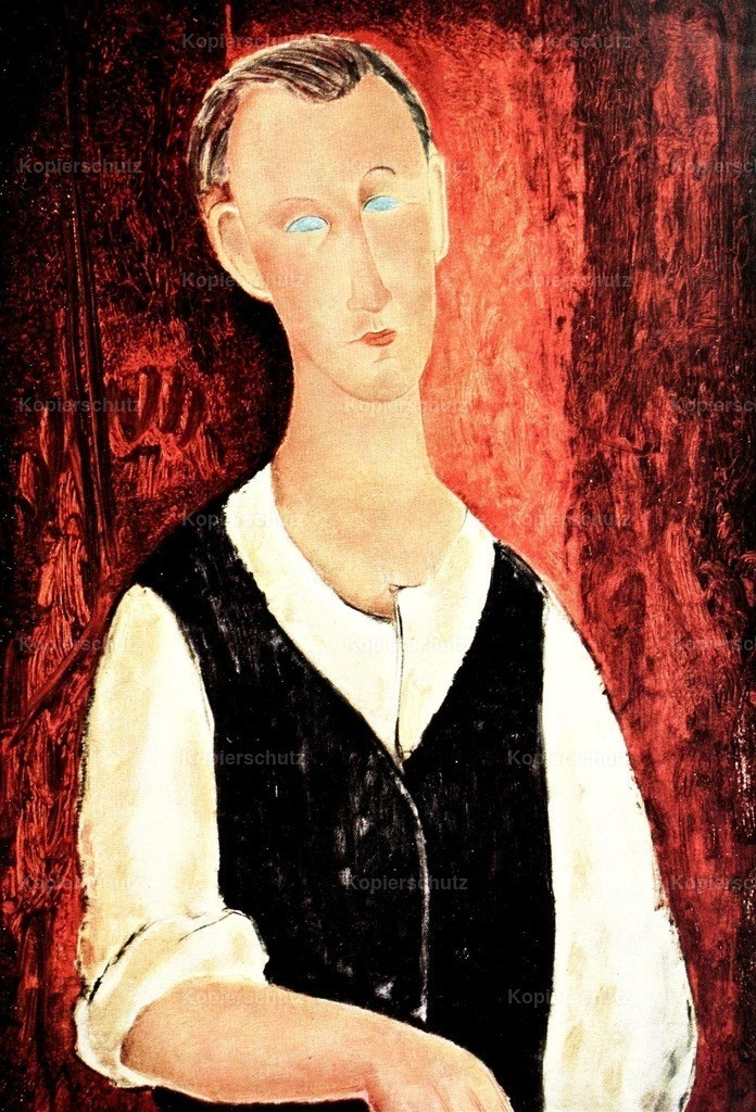 Modigliani_ Amedeo (1884-1920) - Portrait of a Young Farmer 1918-19