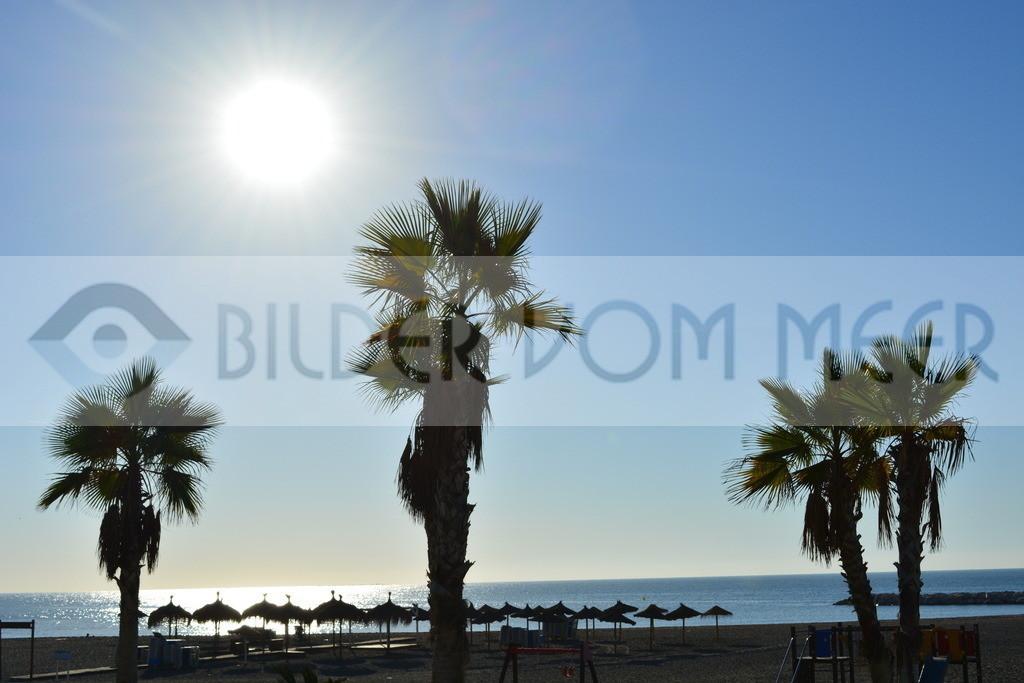 Strand Bilder   Morgensonne in Malaga