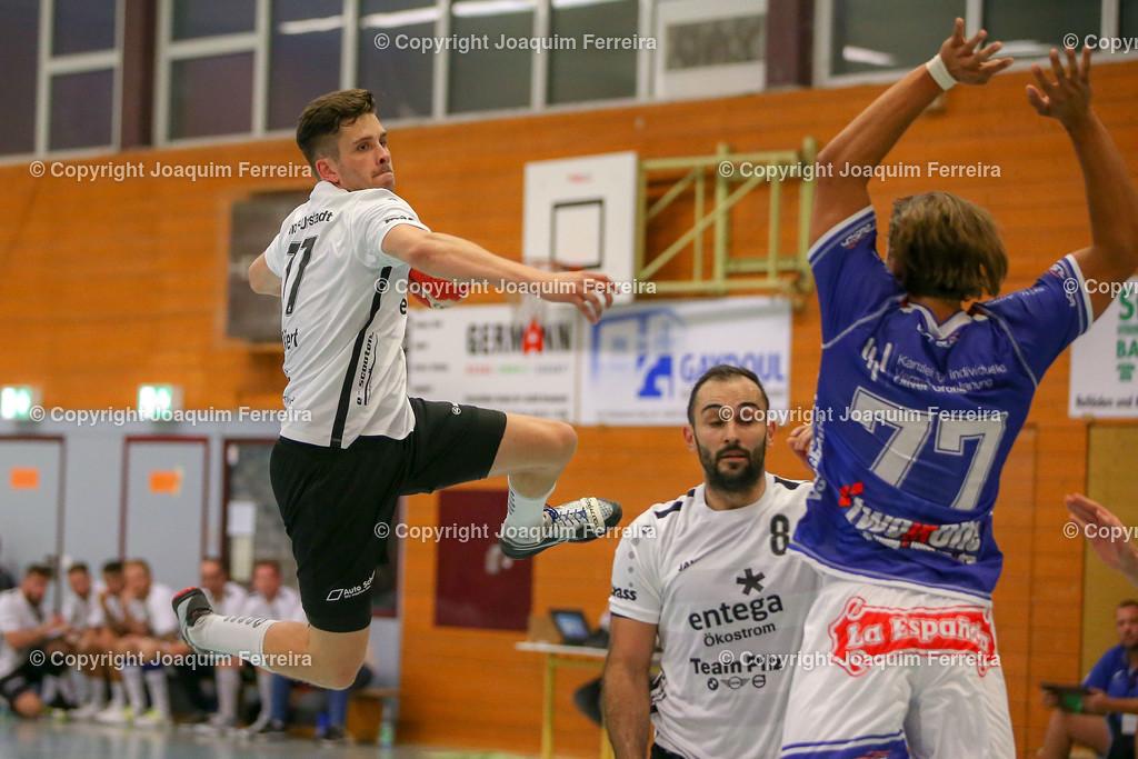 190913_msg_0238 | despor 2019.09.13 HHV Handball Männer Oberliga MSG Umstadt/Habitzheim gegen TuS Dotzheim emspor, emonline, despor,  v.l.,  Wurf von Tom Seifert (MSG Umstadt/Habitzheim),  David Asic (MSG Umstadt/Habitzheim), #77 Max Kaczmarek (TUS Dotzheim) Foto: Joaquim Ferreira