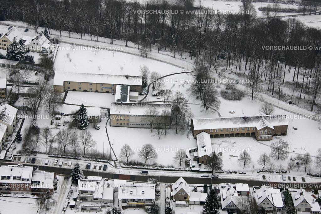 KT10011070 | Schnee,  Kettwig, Essen, Ruhrgebiet, Nordrhein-Westfalen, Deutschland, Europa, Foto: Luftbild Hans Blossey, Copyright: hans@blossey.eu, 06.01.2010, E 006° 57' 01.21
