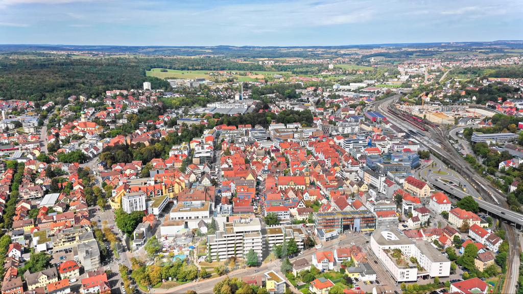 Aalen City Luftbild | Reichsstädter Tage