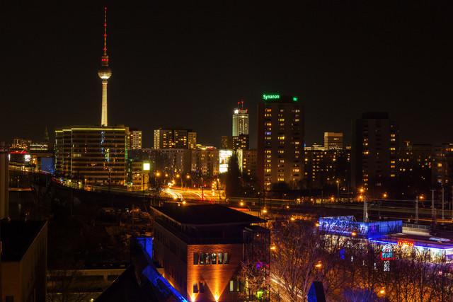 Berlin bei Nacht | Berlin und Berliner Fernsehturm bei Nacht