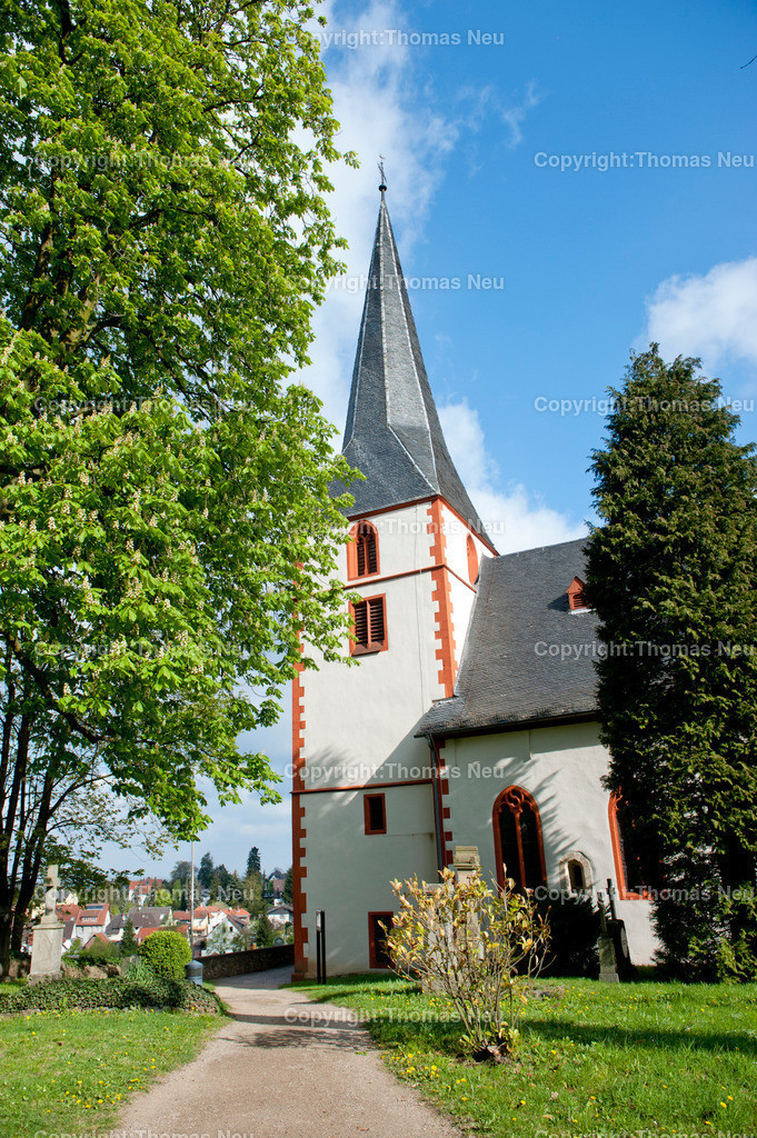 Bergkirche_Auerbach | Bensheim , Schmuckbild , Kirche, Bergkirche Auerbach , frisches Gruen , ,;BIld: Thomas Neu
