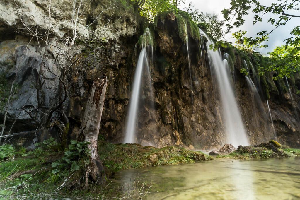 Wasserfall Plitvicer Seen Langzeitbelichtung