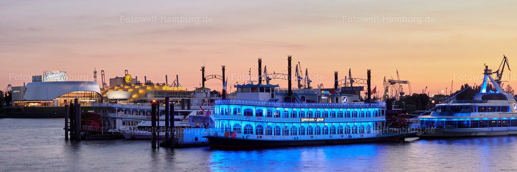 11800412 - Louisiana Star und Hafentheater im Abendrot