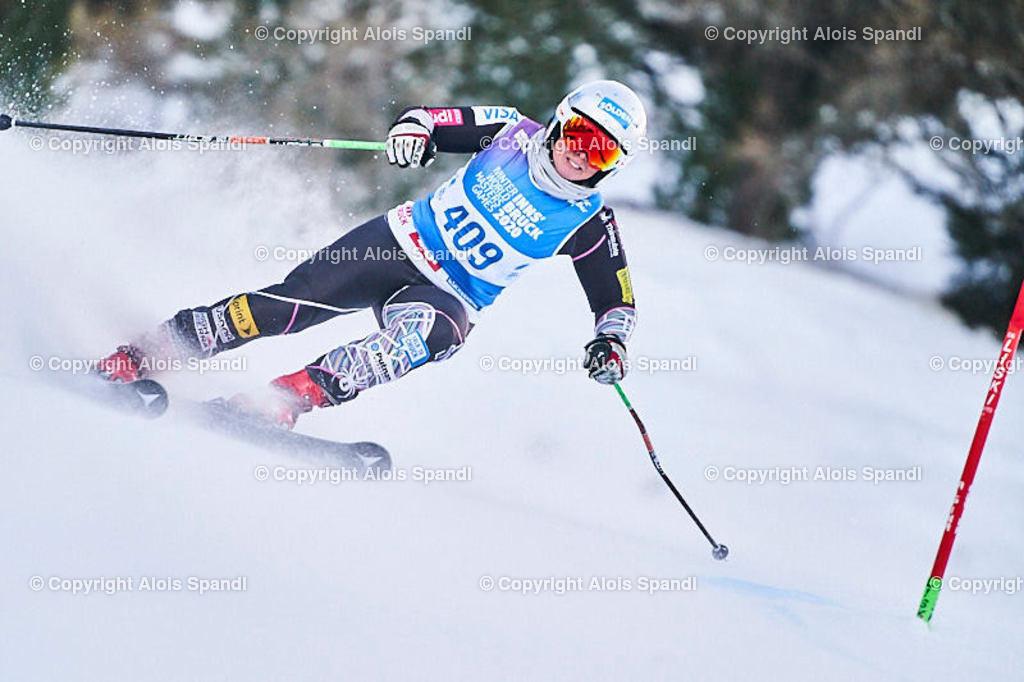 ALS5723_WWMG_GS-II_C | (C) FotoLois.com, Alois Spandl, WinterWorldMastersGames 2020 Innsbruck, Giant Slalom-II Gruppe C Damen, Patscherkofel Olympiaabfahrt, Mi 15. Jänner 2020.