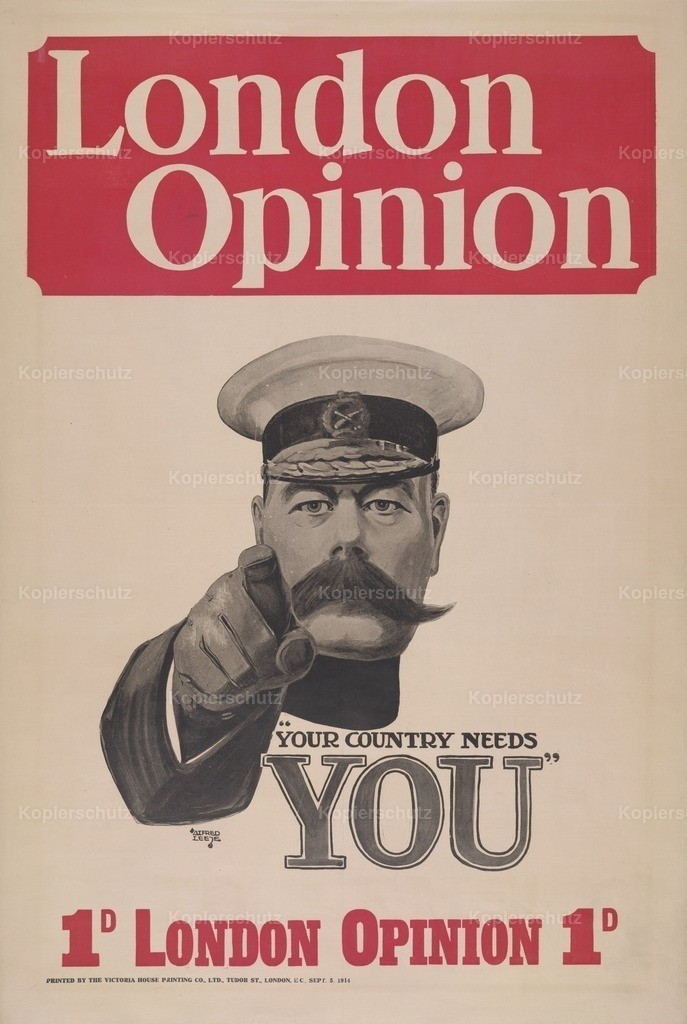 Leete_ Alfred (1882-1933) - WW1 Kitchener Recruitment Poster - Your Country Needs You