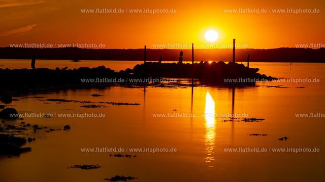 Sonnenuntergang auf Holnis C4 | Sonnenuntergang auf Holnis an der Ostsee