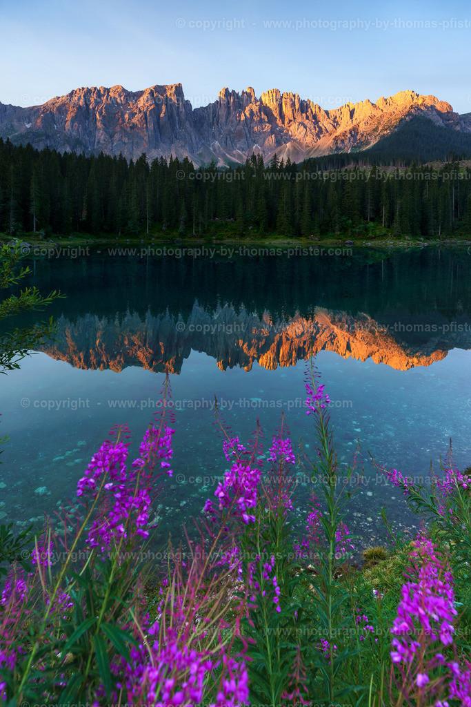 Karersee Dolomiten Sonnenaufgang-2