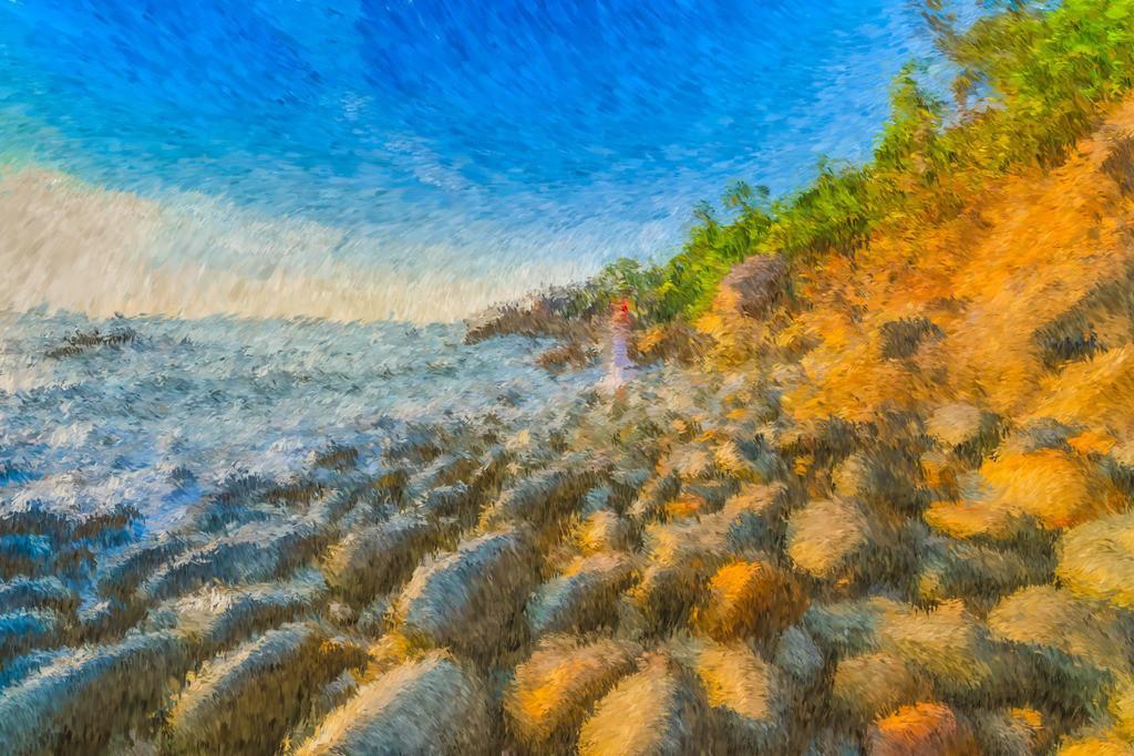 Strandblick | Fotografie trifft auf Digital Painting, moderne Malerei - Mixed Media. Die Entstehung dieser Kunstserie erfolgt über Fotografie und digital Painting. Die digitale Vorgehensweise ermöglicht es mir Kunstwerke zu erschaffen die mit konventioneller Herangehensweise nicht zu realisieren sind.