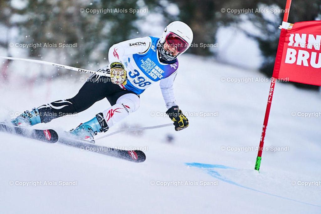 ALS5678_WWMG_GS-II_C | (C) FotoLois.com, Alois Spandl, WinterWorldMastersGames 2020 Innsbruck, Giant Slalom-II Gruppe C Damen, Patscherkofel Olympiaabfahrt, Mi 15. Jänner 2020.