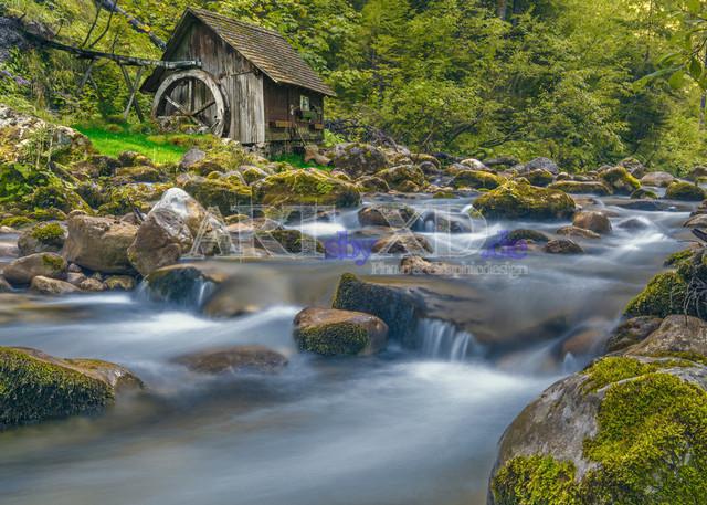 Glemmbach mit Mühle